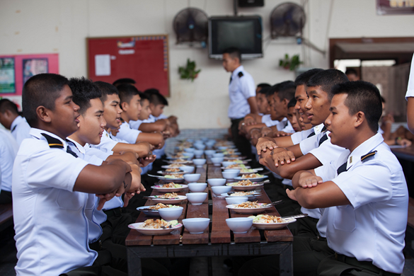 โรงอาหาร โรงเรียนดาวนายร้อย เตรียมทหาร กวดวิชาเตรียมทหาร